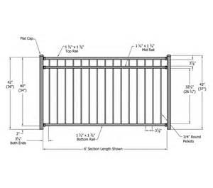 handrail height ada riviera aluminum railing phillips fencing