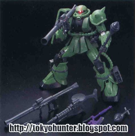 Bandai Pg Ms 06f Zaku Ii Weapon Animation Color Version Limited tokyo 1 60 pg zaku ii weapons anime color ver