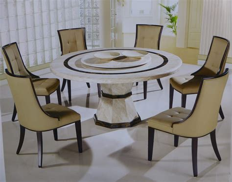 7 Piece Round Dining Room Set 7 piece canberra italian marble round dining set