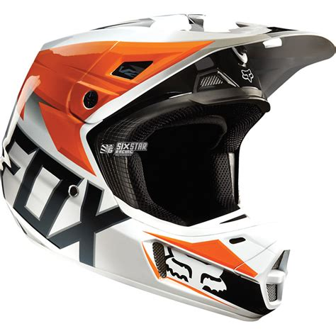 orange motocross helmet fox racing v2 race orange ktm motocross helmet bmx