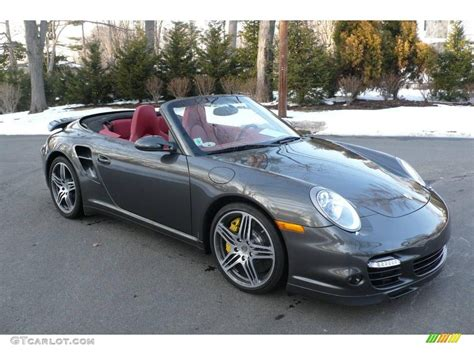 grey porsche 911 turbo 2008 slate grey metallic porsche 911 turbo cabriolet