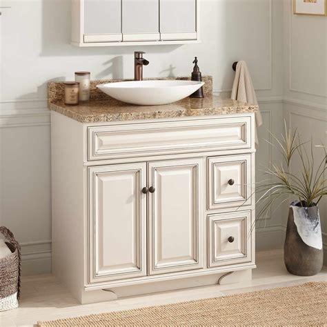 White Vanity Sink by 36 Quot Misschon Vessel Sink Vanity Antique White Vessel