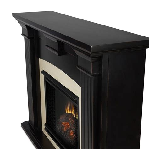 White Dining Room Furniture Sets Real Flame Adelaide Indoor Electric Fireplace In Black