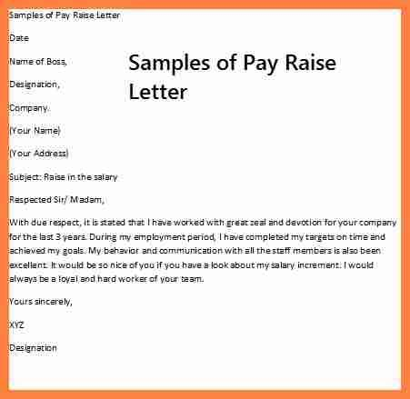Request Letter Salary Increase 6 Asking For A Salary Increase Letter Salary Slip