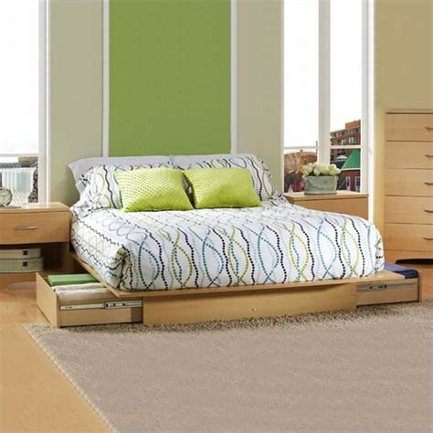 south shore copley full queen wood storage platform bed