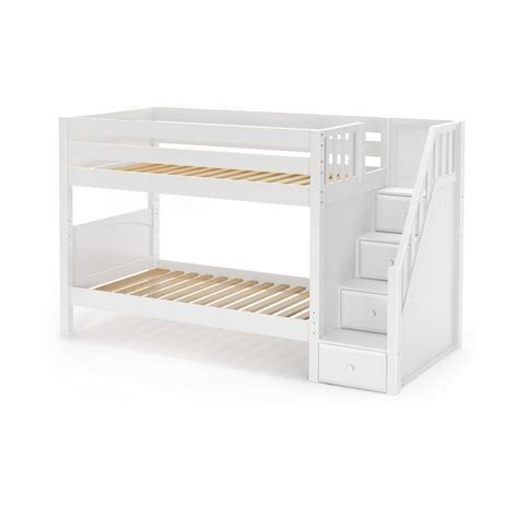 low twin bunk beds maxtrixkids stacker wp low bunk bed with staircase on