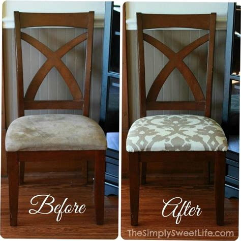 Dining Room Chairs Recovered How To Recover Dining Room Chairs For The Home Pinterest