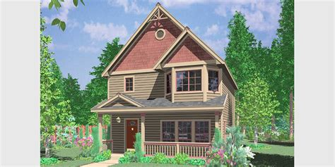 House Plans With Bay Windows by Narrow Lot House Plan Front Bay Window