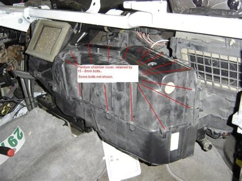 install upper intake 01ford van e150 ford f250 replace blend door how to ford trucks