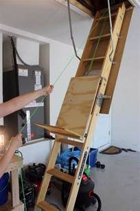 Stair Pulley System by Store Items In Your Attic With Ease With This Diy Attic
