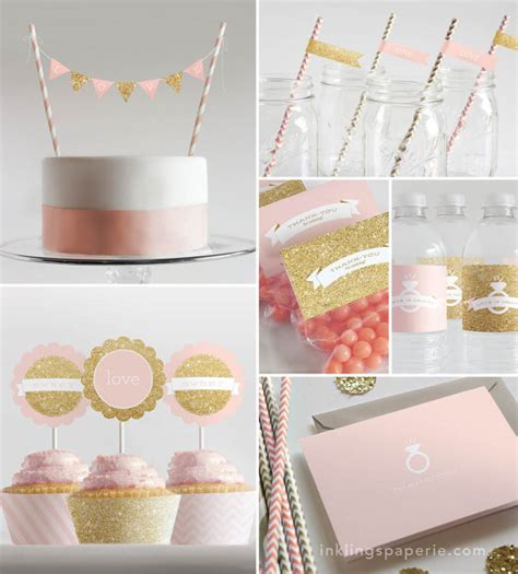 printable party decorations etsy bridal shower decorations printable pink by