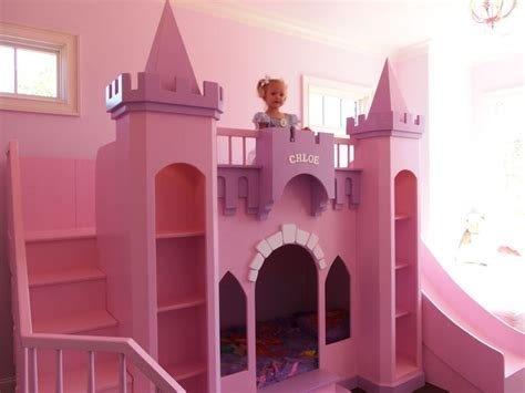 Princess Bunk Bed Castle New Custom Princess S Castle Loft Bed Free Led Accent Lights Gardens Loft Beds And Kid