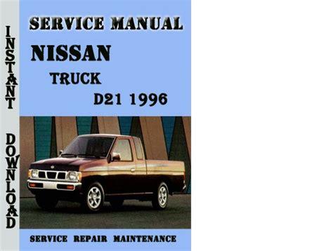 Nissan Truck D21 1996 Service Repair Manual Pdf Download