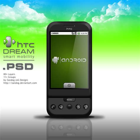 android g1 htc g1 smartphone psd by zandog on deviantart