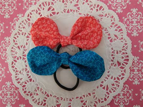 Knot Bow Hair Tie knot bow hair ties set of 2 sewsarah madeit au