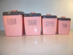 pink kitchen canisters c dianne zweig kitsch n stuff the retro kitchen are