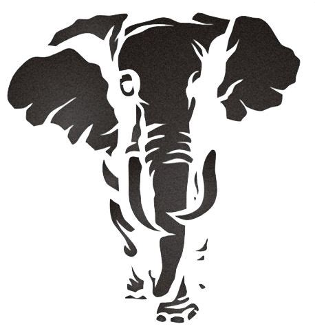 elephant stencil cliparts co