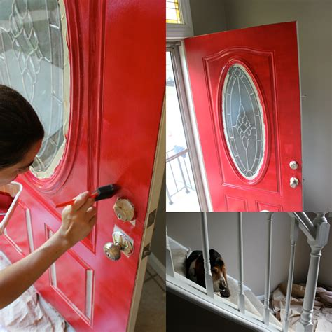 How To Paint A Door With A Roller by Total Basset Diy How To Paint A Front Door In 5