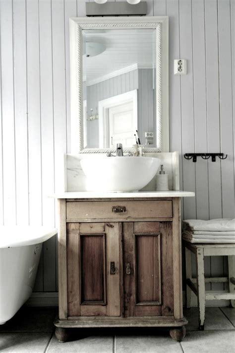 Kleines Badezimmer Shabby Chic by Waschtisch Aus Holz Und Andere Rustikale Badezimmer Ideen