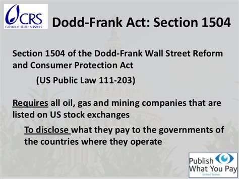 section 1502 of the dodd frank act us dodd frank act disclosure requirement for publicly for