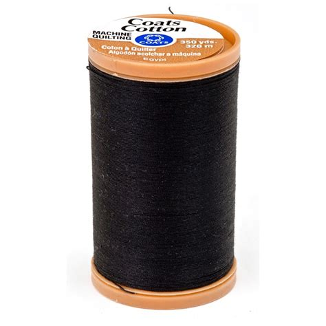 black cotton thread fabric