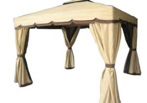 Gazebo 8x8 Rona by Roma Beige Amp Brown Sun Shelter 10 X 12 Bacchi Gazebo