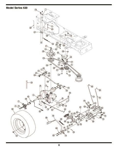 mtd mower parts diagram mtd 620 hydrostatic lawn tractor mower parts list