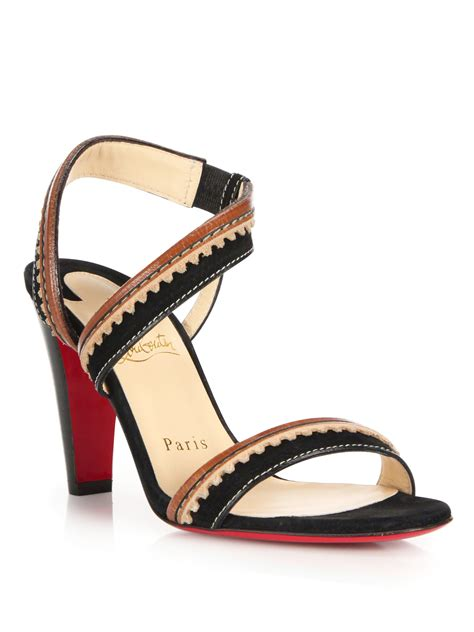 christian louboutin sandals christian louboutin trepi city suede leather sandals in