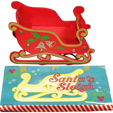 santa clause decoration decoration santa clause s sleigh and original