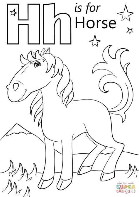 letter h coloring pages az sketch coloring page