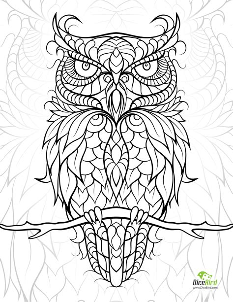 Diceowl Free Printable Adult Coloring Pages Coloring Book Pages To Print Free