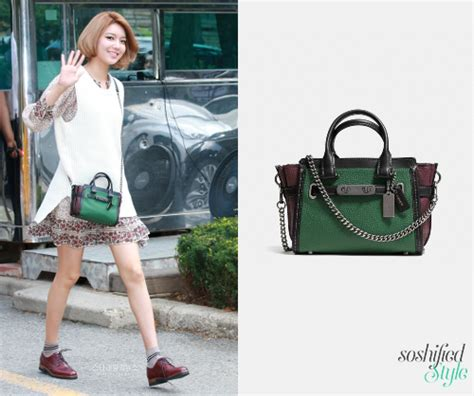 Yoona Satchel Small Black soshified styling snsd coach msgm valentino and more