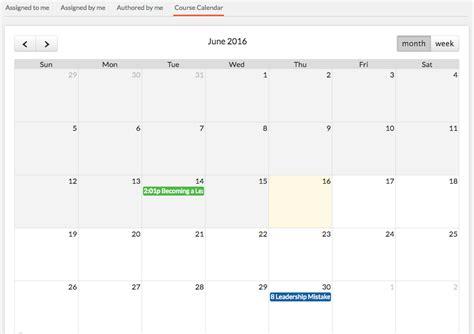 Course Calendar Learning Instructor Led Engagedly
