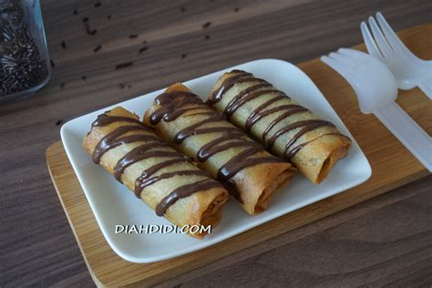 lumpia pisang coklat keju gudang resep masakan