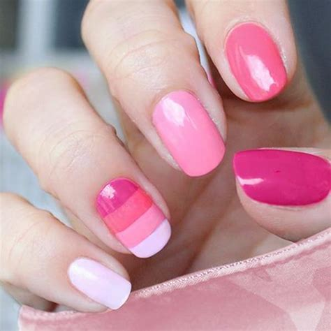 easy clean up nail art 67 innocently sexy pink nail designs photos