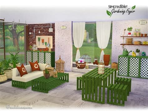 Sims 4 Foyer by Gardening Foyer Decor By Simcredible At Tsr 187 Sims 4 Updates