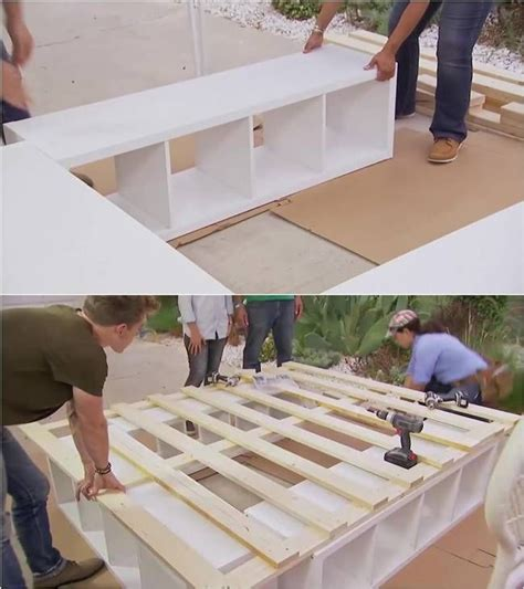 how to make a platform bed with storage best 25 diy platform bed ideas on pinterest diy
