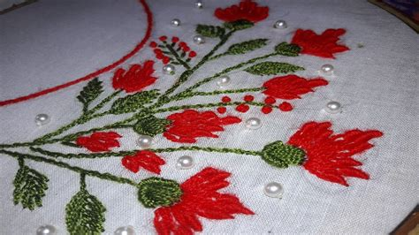boat neck hand embroidery designs hand embroidery boat neck embroidery bullion lazy stitch
