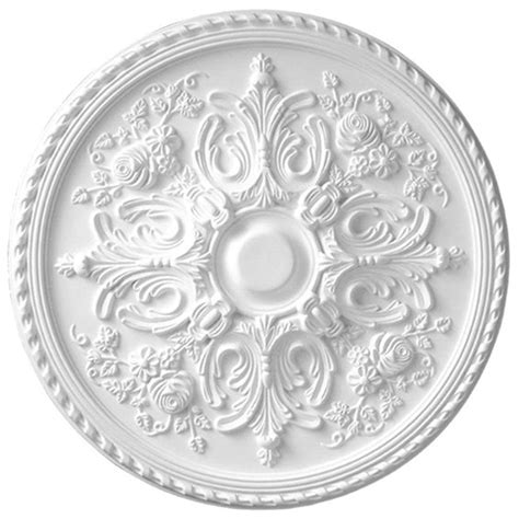 decorative ceiling medallions american pro decor 32 5 8 in x 2 in floral polyurethane