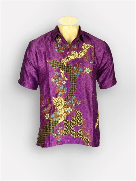 Baju Ungu Merah baju batik pria aryasena 12278 batik tanah abang