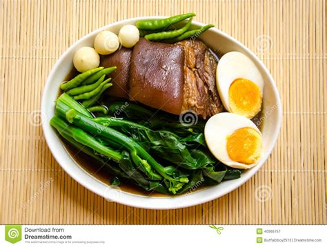 calling food thai food call kha moo stock photo image 40565757