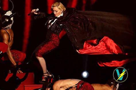 Epic Wardrobe madonna suffers epic wardrobe fail and takes a shocking