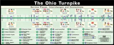 Ohio Turnpike Map by The Ohio Turnpike Travel Boards Inc