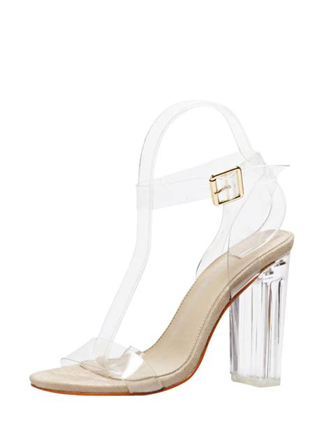 transparent sandals buy transparent plastic slingback sandals apricot 40 at