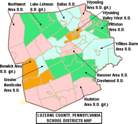 map of luzerne county pa dallas school district