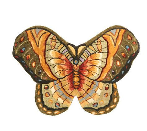 Royal Palace Bold Butterfly 2 2 Quot X 3 2 Quot Handmade Wool Rug Butterfly Rug