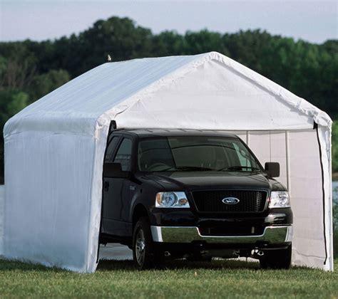 10 X 20 Metal Carport by Shelterlogic 10 X 20 Enclosed Carport In Carports