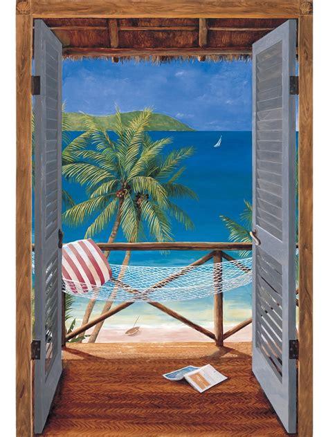 wall murals tropical tropical door wall mural themuralstore