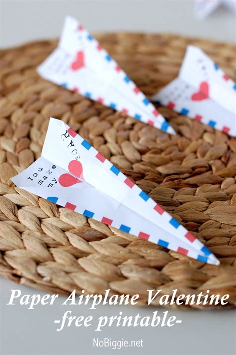 paper airplane valentines paper airplane free printable hop