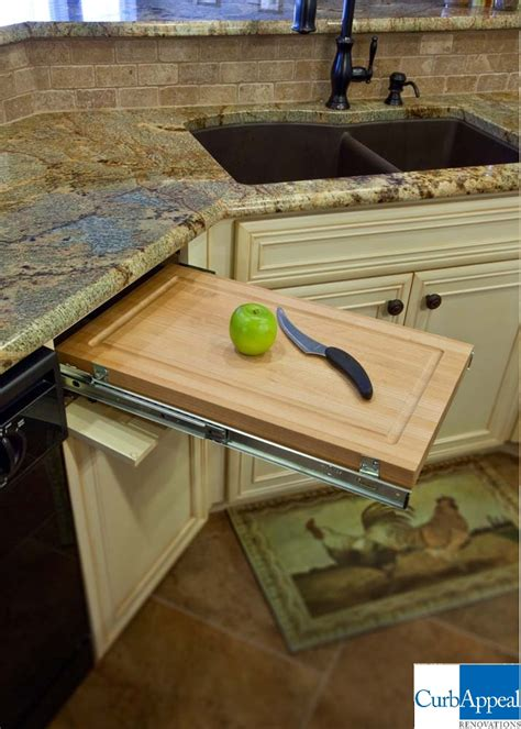 built in cutting board home kitchen - Built In Cutting Board